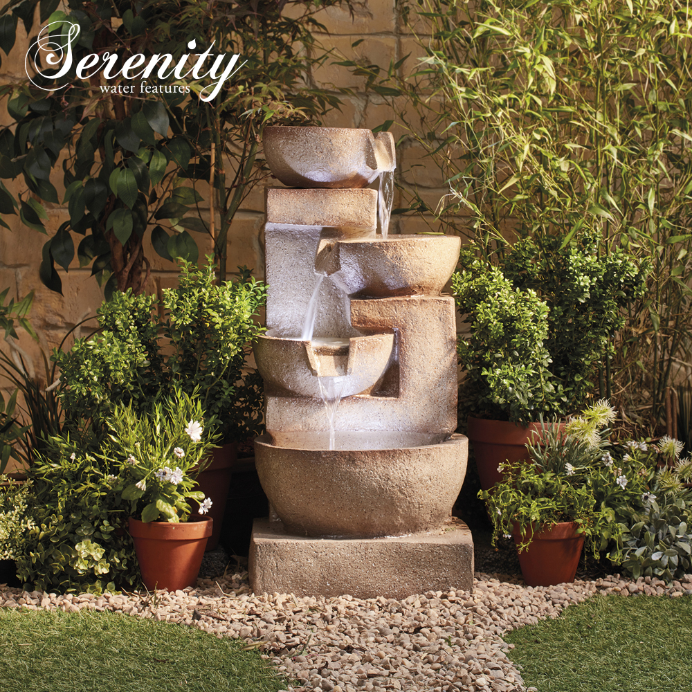 Image of 4 Tier Laguna Cascade Water Feature With Light