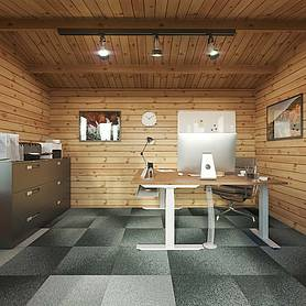waltons m x m home office director log cabin
