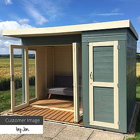 x  waltons contemporary summerhouse with side shed