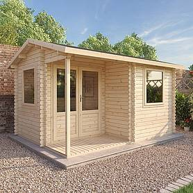 Waltons 4m x 3m Home Office Executive Log Cabin