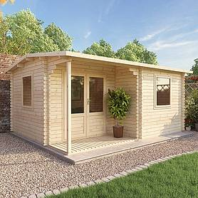 Waltons 5m x 4m Home Office Executive Log Cabin