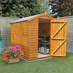 8 x 6 Waltons Ultra Value Overlap Apex Garden Shed without Windows