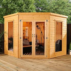 x  waltons wooden corner summerhouse