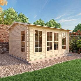 4.5m x 3.5m Waltons Home Office Director Log Cabin