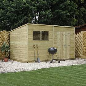 14 x 8 Waltons Pressure Treated Tongue and Groove Pent Shed