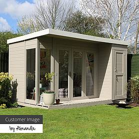 12 x 8 Waltons Contemporary Summerhouse with Side Shed (RH)
