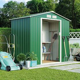 Waltons Apex 7 x 4.2ft Metal Shed With Foundation Kit