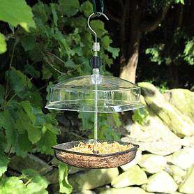 Kingfisher Hanging Mealworm Bird Feeder With Plastic Canopy