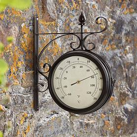 wyegate radio controlled wall mounted outdoor clock and thermometer