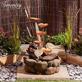 Serenity Lily Pad Cascade Water Feature