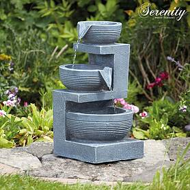 Serenity Tiered Bowl Indoor and Outdoor Water Feature