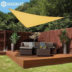 Garden Life 3-Metre Triangle Waterproof Sun Shade Sail - Sand