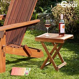 Garden Gear Acacia Folding Side Table