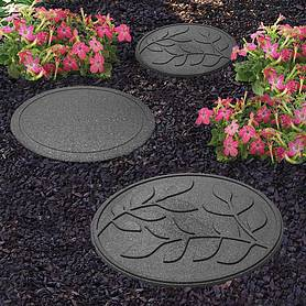 Reversible Eco-Friendly Stepping Stone Leaves - 2 Pack