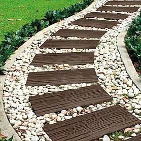 Eco-Friendly Stepping Stone Rail Road Sleepers - Pack of 8