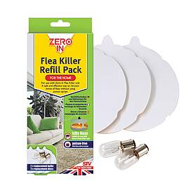 Zero In Flea Killer Refill Pack - 3 Sticky Discs and 2 Spare Lamps