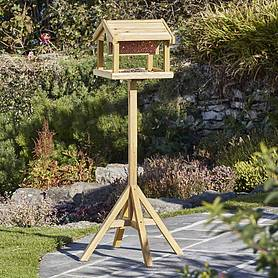Nature's Market Premium Bird Table with Built-in Feeder