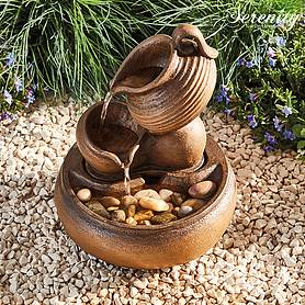 Serenity Table-Top Tipping Jugs Water Feature