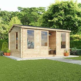 m x m waltons home office director log cabin