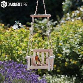 Garden Life Wooden Bird Feeder Swing
