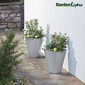 Garden Grow Set of Two Large Modern Planters