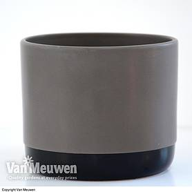 Two-tone ceramic pots - Grey/Black