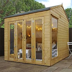 Waltons 8ft x 8ft Vermont Wooden Summerhouse