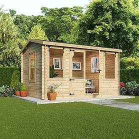 Waltons 4m x 3m Bridgeford Log Cabin