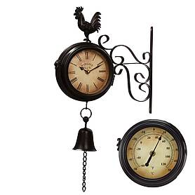 Wall Mounted Metal Rooster Clock
