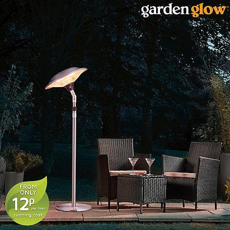 Garden Glow 2100w Free Standing Tilting Electric Patio Heater Van Meuwen
