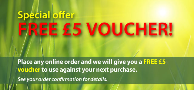 Free £5 voucher with your order
