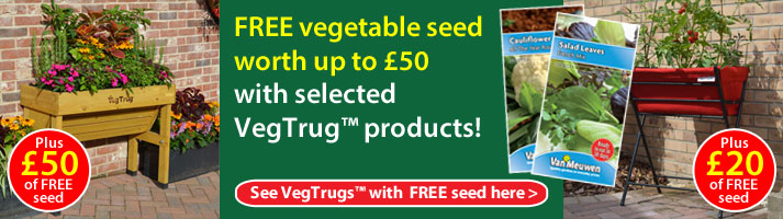 Up to £50 worth of free seed with selected VegTrugs