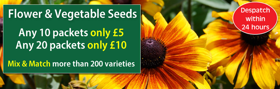 Mix and Match Seed Offer - 10 packets only £5 or 20 packets only £10
