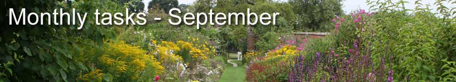 monthly tasks september