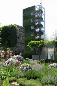 vertical garden at chelsea flower show